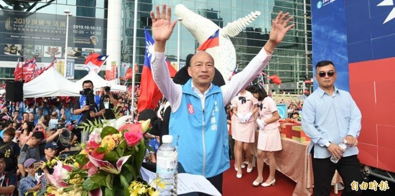 高雄市長韓國瑜欲與總統蔡英文辯論兩岸政策,王定宇認為韓請假選舉被砲轟,此舉是為了轉移焦點。(資料照)