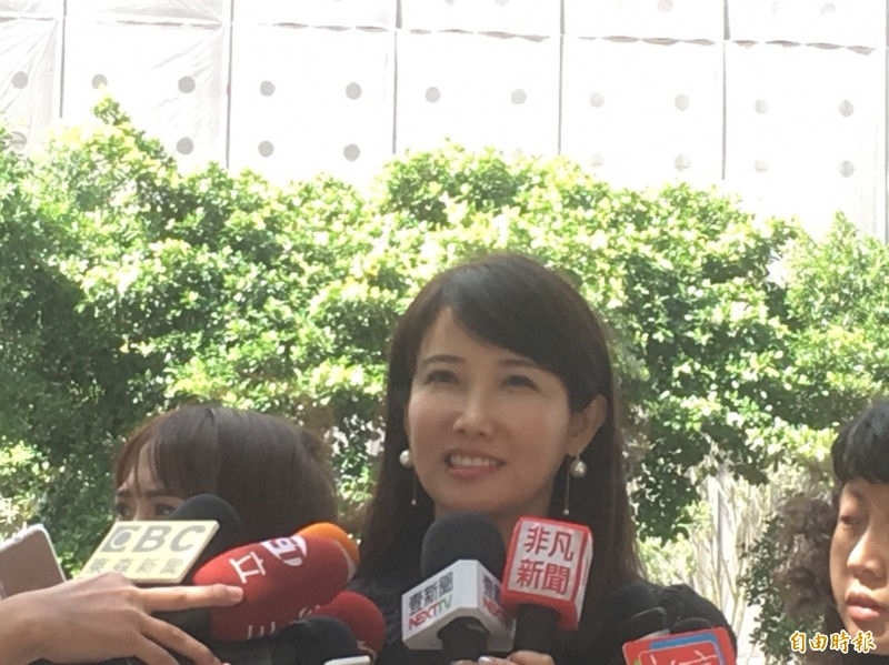 郭辦發言人、永齡基金會副執行長蔡沁瑜。(記者陳柔蓁攝)