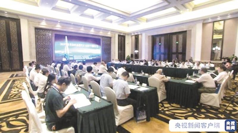 中國「央視」報導兩岸專家13日齊聚福建福州,就福州至馬祖、廈門至金門通橋方案進行討論。(擷取自中國央視)