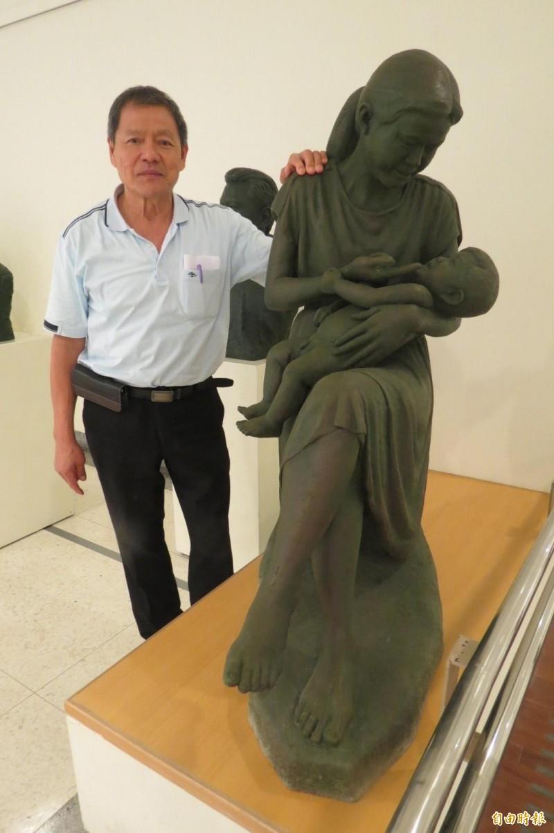 拳擊國手轉型雕塑創作 他學芭蕾、揮桿體會肌理變化才動手創作