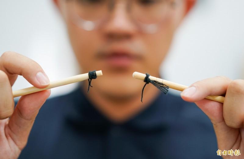 男性結紮只需局部麻醉,截斷3毫米輸精管後兩端燒灼,並以黑絲線綁結,15分鐘至30分鐘即可完成。結紮手術示意圖。(記者張議晨攝)