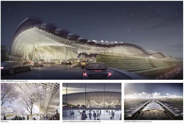 桃機第三航廈力拼2023年完工,但主體工程因施工難度過高,三度流標。(圖擷自桃園機場官網)