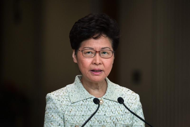 香港行政長官林鄭月娥今日回應該陳彥霖案時表示,在社會焦慮、信心脆弱的情況下,容易令人相信針對警方的惡意謠言。(法新社)