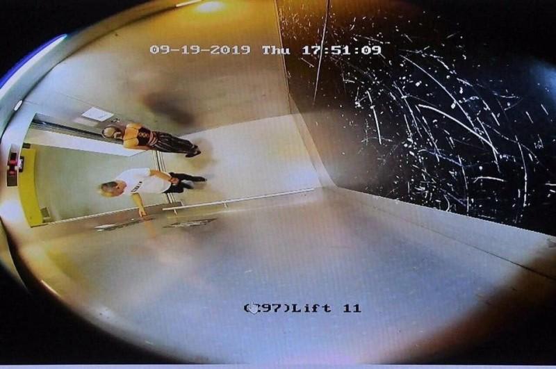 今日校方再公開陳彥霖離開電梯以及離校的畫面,並且強調原始畫面並沒有疑失。(圖擷取自臉書_沒有暴徒只有暴政)