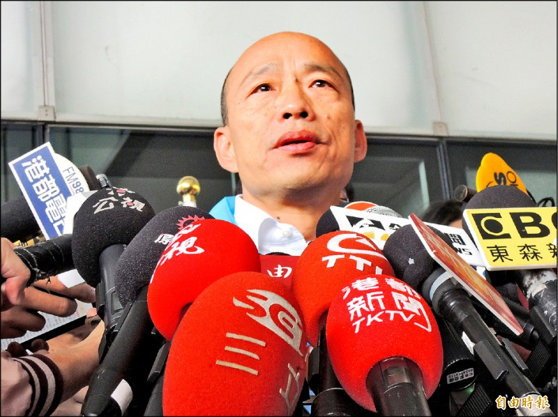 高雄市長韓國瑜請假拚大選。(記者王榮祥攝)