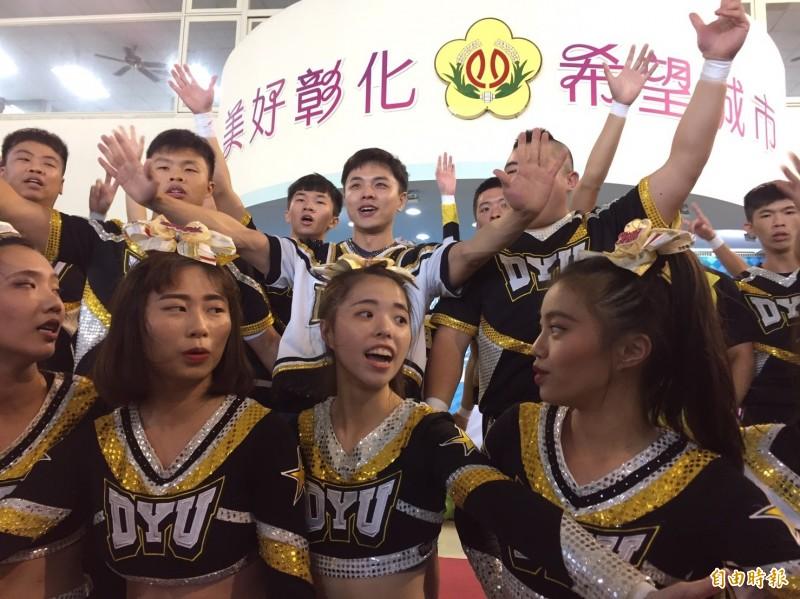 今年賽事首度舉行啦啦舞票選活動,邀請縣內在地8所學校編排啦啦舞作品上傳活動官網,開放民眾票選。(記者張聰秋攝)