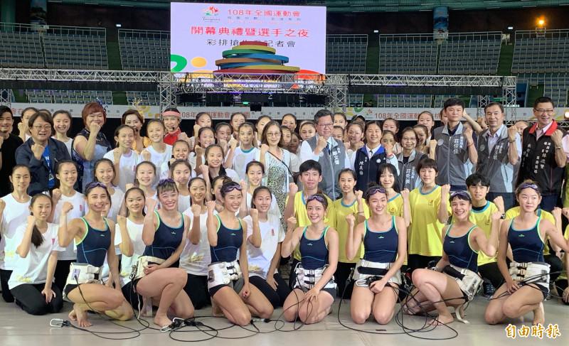 鄭文燦市長歡迎大家來桃園觀賞全運會的所有比賽。(記者陳恩惠攝)