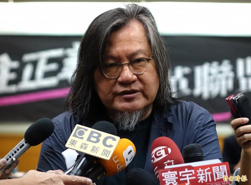 「居住正義改革聯盟」成立記者會 ,前台北市都發局長林洲民聯訪。(記者王藝菘攝)
