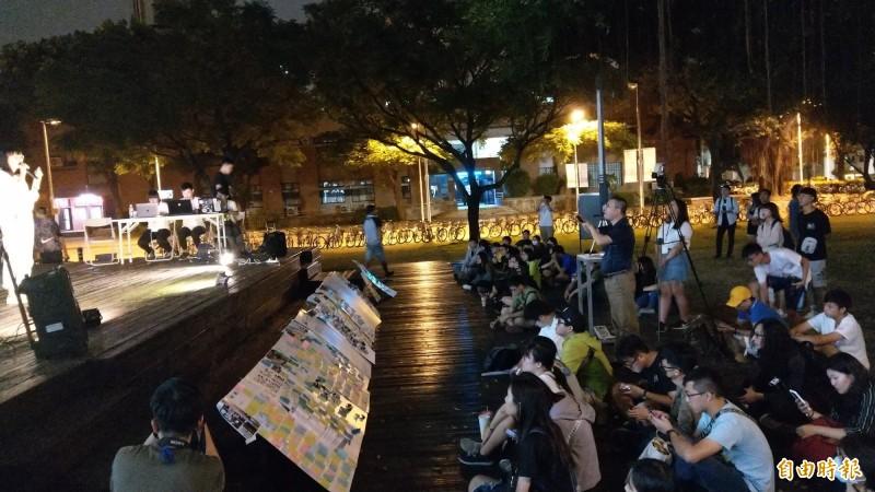 成大學生撐香港 今辦連儂晚會合唱《讓榮光歸香港》