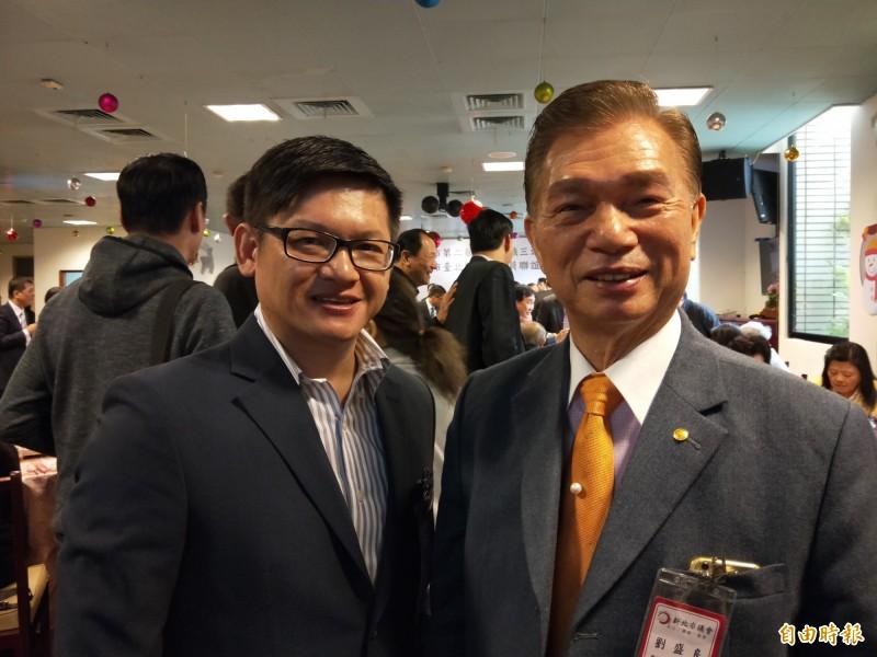 劉盛良(右)認為,韓國瑜在2020年總統大選中能贏80萬票,被網友打臉。(資料照)