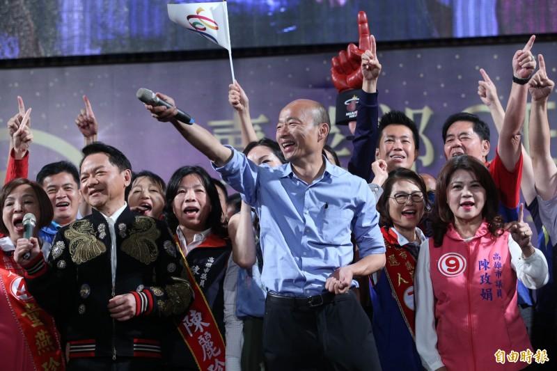 韓國瑜昨日接受媒體訪問,提到台灣沒有本錢與中國對抗。(資料照)