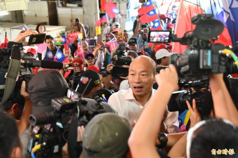 國民黨總統參選人韓國瑜。(記者蔡宗憲攝)
