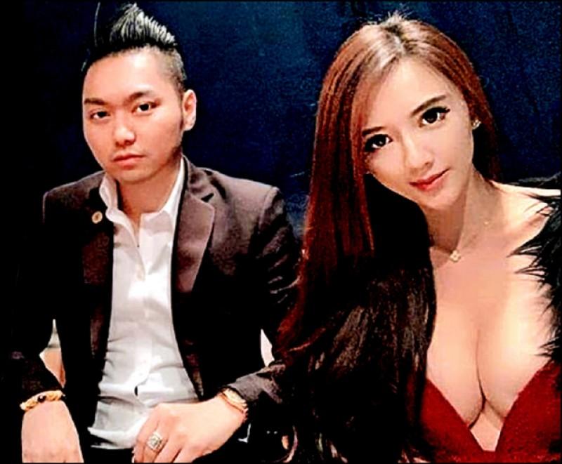 辣模子涵(右)受連千毅(左)之亂波及,她指當初赴警局是以證人身分協助調查,絕未賣淫。(取自臉書)