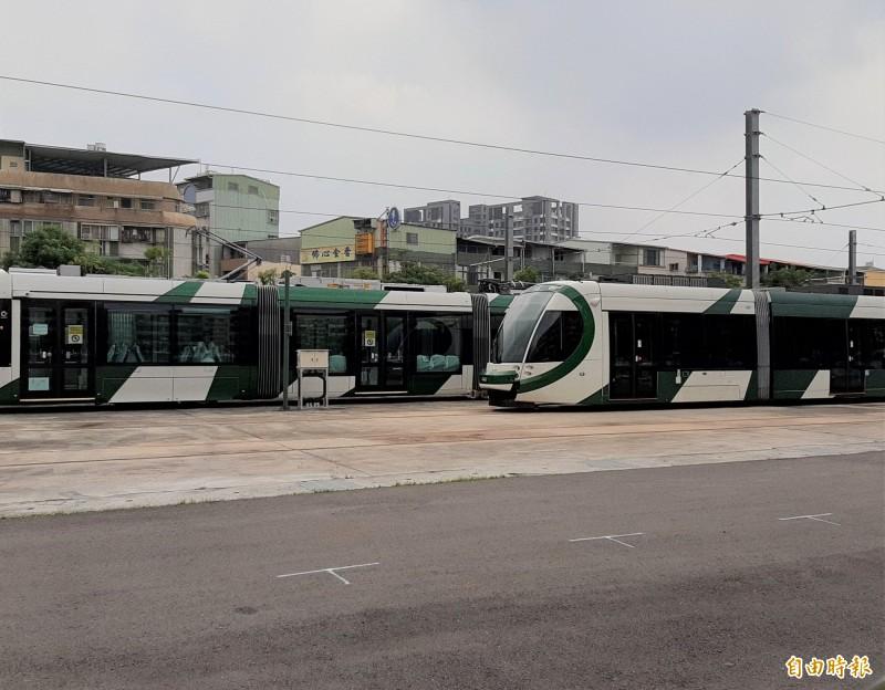 韓國瑜讓高雄輕軌二階工程停擺,又宣示要讓高鐵屏東案歸零。(記者侯承旭攝)