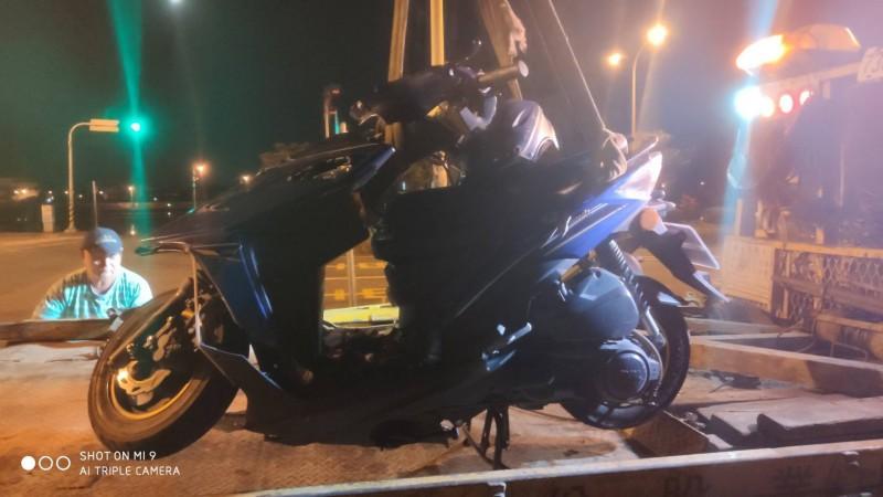 宜蘭市環市東路與黎明三路口今天傍晚發生一起死亡車禍,宜蘭高商教官不幸喪命。(記者林敬倫翻攝)
