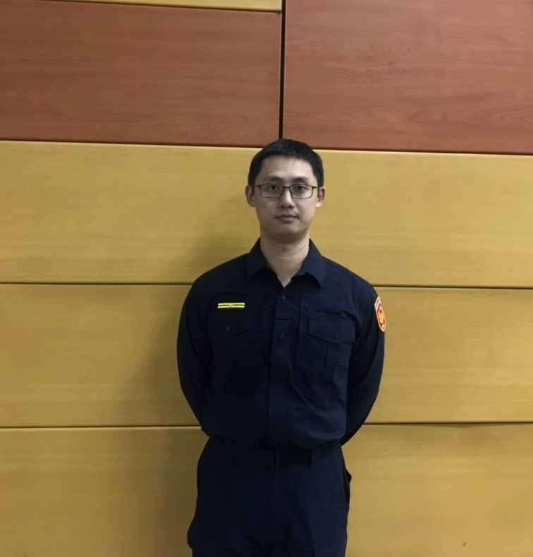 新任和一所所長蔡皓宇從基層警員做起。(記者吳昇儒翻攝)