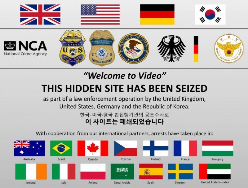 美國、英國、德國、韓國聯手破獲掩藏在暗網裡的南韓兒童色情網站,並在世界各地逮捕338名戀童癖。(圖擷自美國司法部網站)