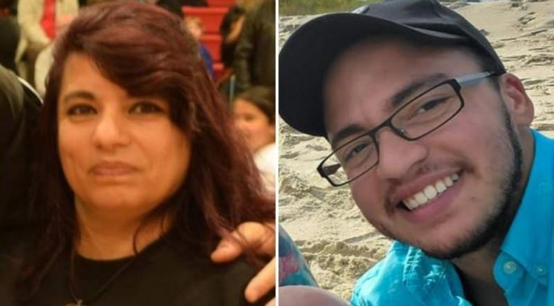 美國女子貝加拉諾(Tina Bejarano,左)30年前生下男嬰克里斯汀(Kristin,右),被告知嬰兒出生後15分鐘內就死亡了,孰料30年後的現在,克里斯汀竟現身與貝加拉諾相認。(圖擷自@datingscams101推特)