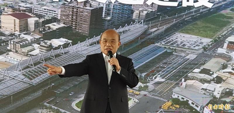 行政院推動高鐵南延左營案,由院長蘇貞昌親自宣布高鐵南延屏東。(資料照)