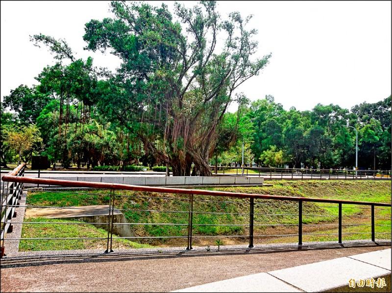 東區平實營區有帶狀公園又交通便利,都更招商案吸引不動產界關注。(記者洪瑞琴攝)