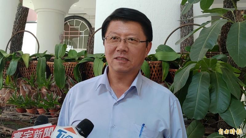 謝龍介說,週六台南造勢晚會,前總統馬英九、黨主席吳敦義和韓國瑜將同台,營造國民黨團結的氣勢。(記者蔡文居攝)
