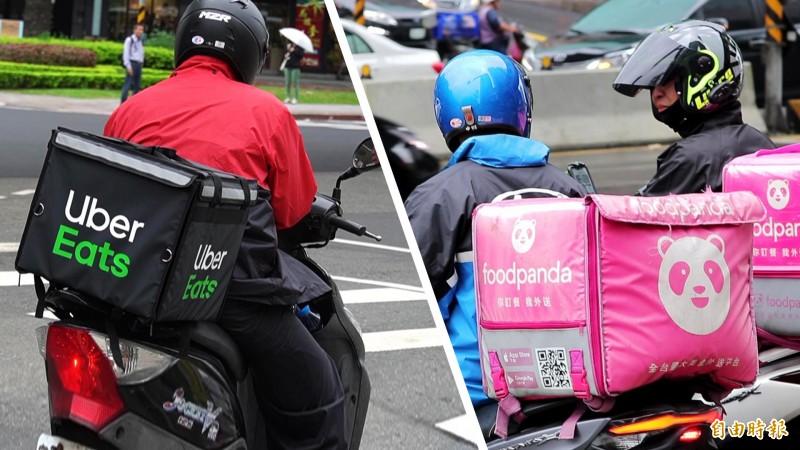 外送員若收到太多次送餐延遲的通知,恐會遭到暫時停權,因此外送員會盡可能快速將餐點送達顧客手上,也較容易增加交通事故的風險。(記者陳宇睿攝)