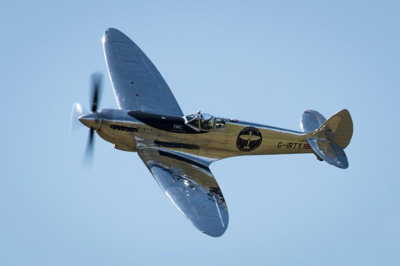 英國皇家空軍二戰傳奇噴火式戰機,預計明(19日)上午抵達台北松山機場。(歐新社)
