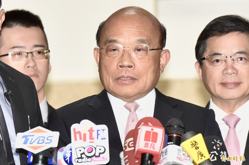 行政院長蘇貞昌今赴立法院施政報告總質詢。 (記者塗建榮攝)