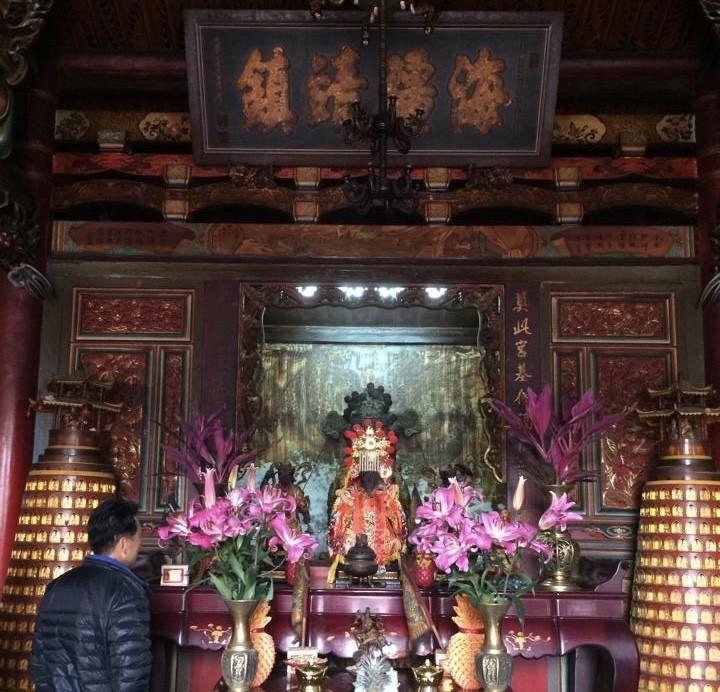 台灣民俗村的奠安宮大殿。(奠安宮提供)