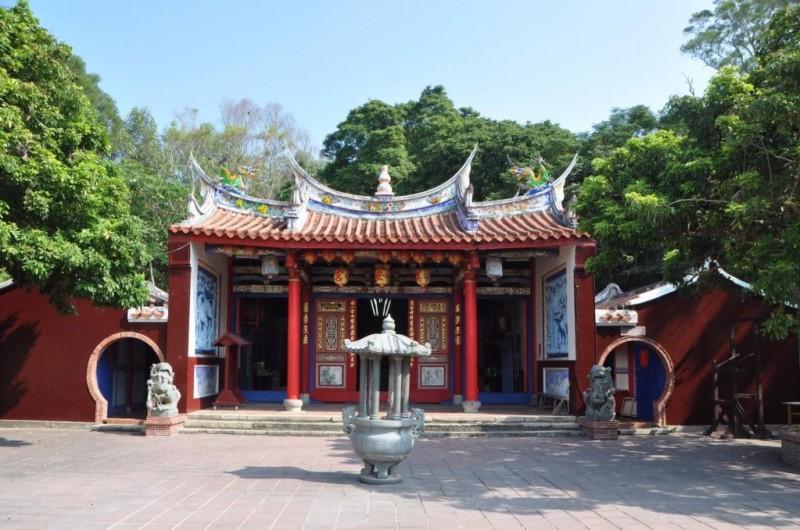 台灣民俗村的奠安宮。(奠安宮提供)