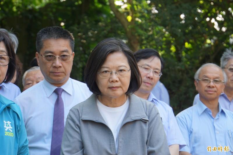 「港女箱屍案」主嫌有意來台投案,蔡總統表示,香港台灣雙方司法互助很重要。(記者詹士弘攝)