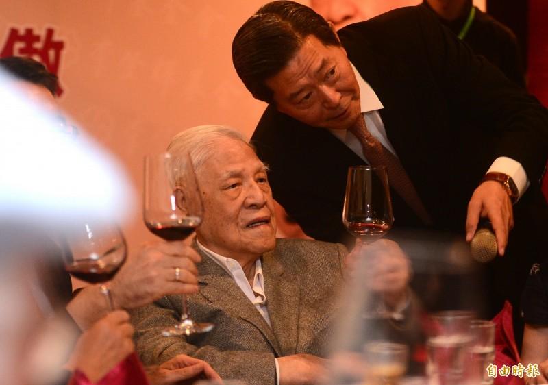 前總統李登輝出席李登輝基金會2019年募款餐會。(記者王藝菘攝)