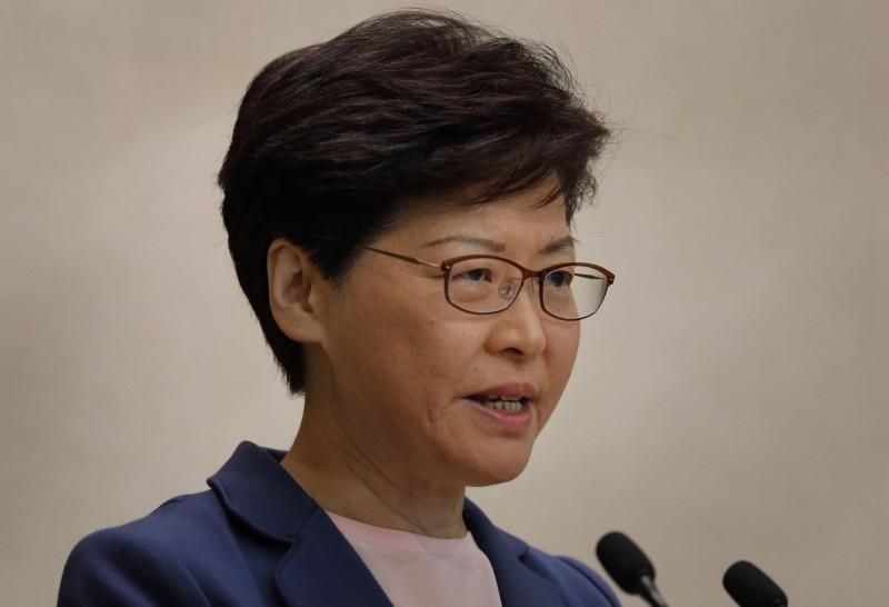 香港大學畢業生議會特別召開動議,表決要求林鄭月娥辭去校監一職,表決結果出爐,以壓倒性票數通過此案。(美聯社)