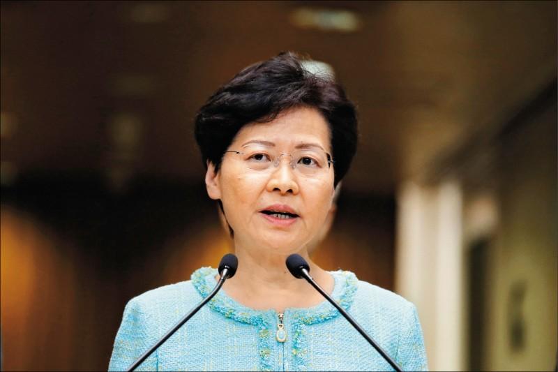 香港特首林鄭月娥表示港女命案凶嫌願意來台投案,允諾協助。(美聯社檔案照)