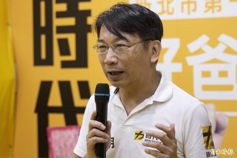 時代力量黨主席徐永明。(記者陳心瑜攝)