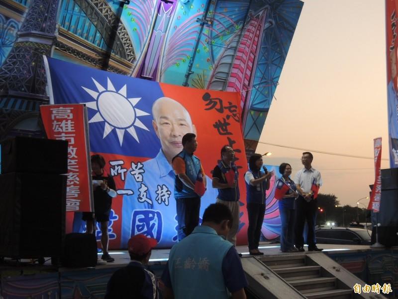 到場的國民黨籍立委參選人一一上台致詞。(記者蔡清華攝)
