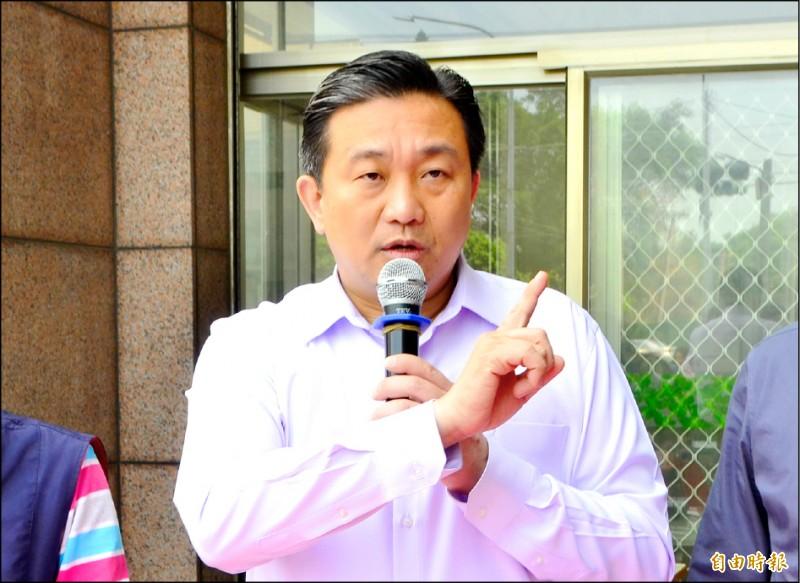 立委王定宇支持高規格警力保護韓國瑜,但也希望韓陣營讓警方查明真相。(記者吳俊鋒攝)