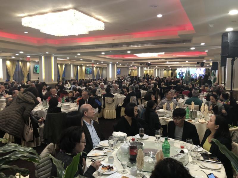 行政院前院長賴清德參加大紐約後援會,會場大爆滿。(台僑提供)