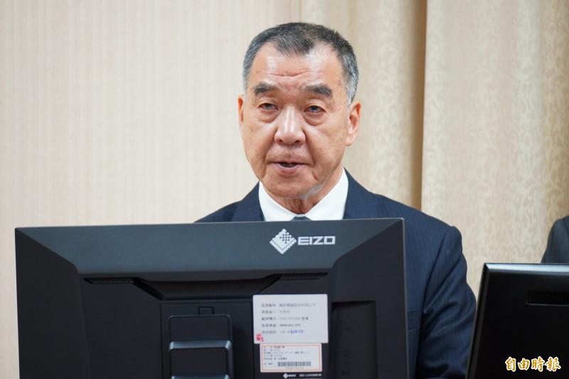 國安局長邱國正今赴外委會報告預算案、備詢。(記者涂鉅旻攝)