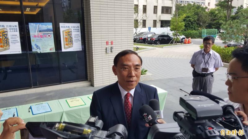 法務部長蔡清祥(記者溫于德攝)