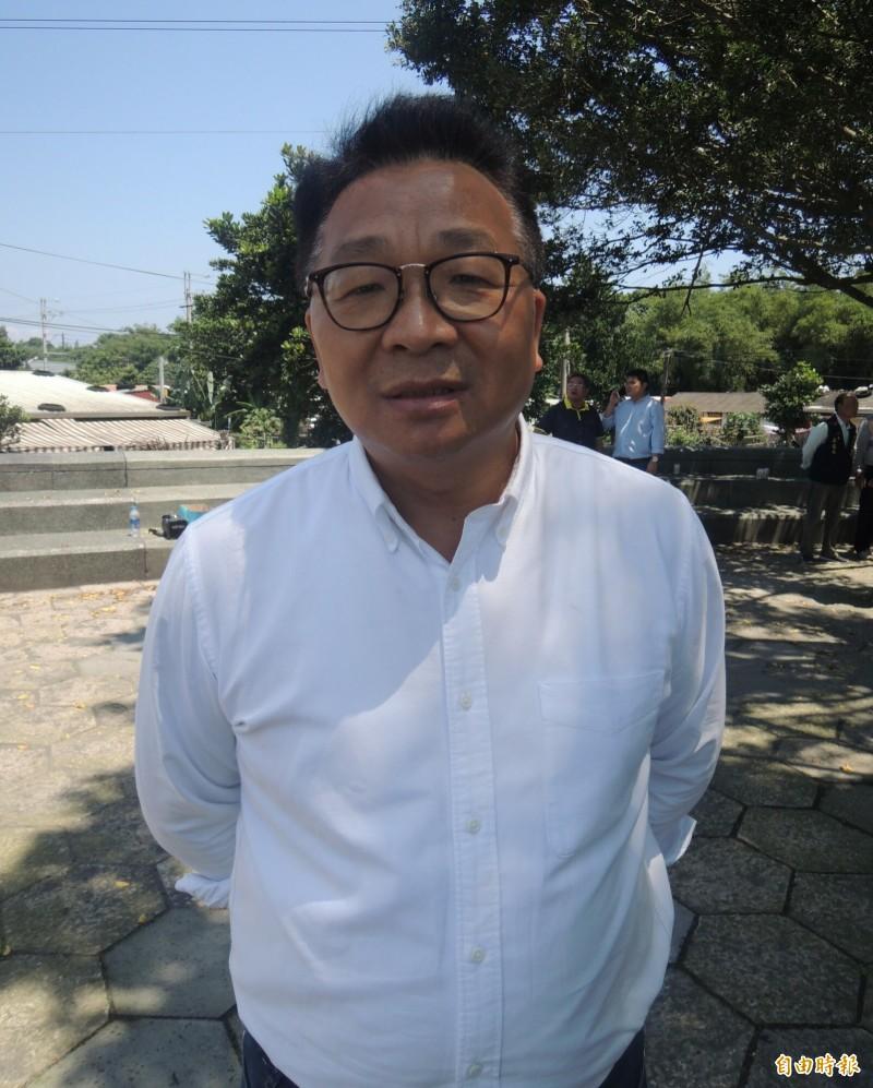 民進黨籍立委陳歐珀尋求連任。(記者江志雄攝)