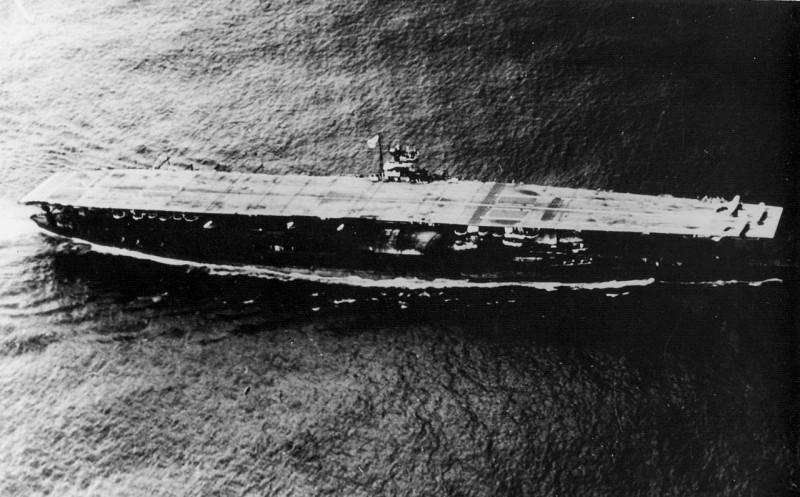 1941年的日本航空母艦「赤城號」。(圖擷自Wiki)