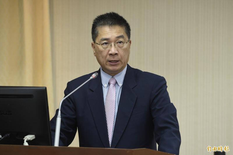 內政部長徐國勇今赴立法院內政委員會報告並備詢。(記者叢昌瑾攝)