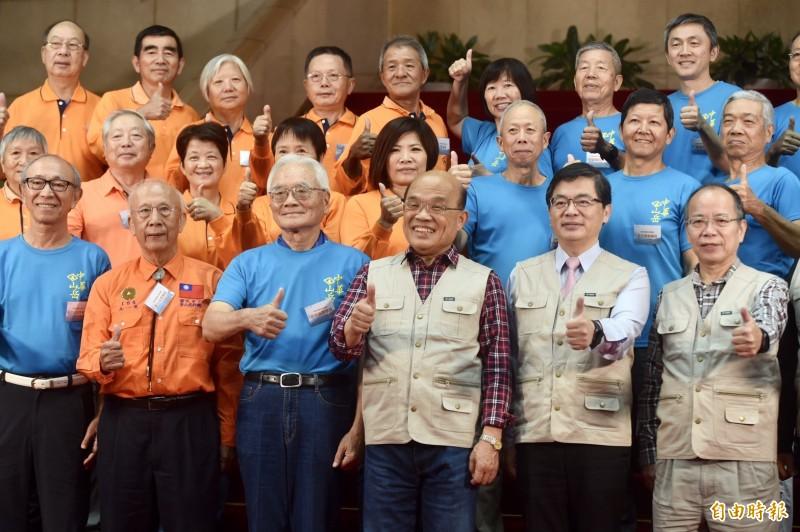 行政院長蘇貞昌上午在行政院召開「向山致敬,啟動山林政策新思維」記者會,宣布開放山林,除國安及生態保育區外,以全面開放為原則。(記者簡榮豐攝)