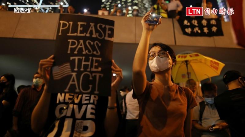 美國眾議院上周(10/15)一致通過《香港人權與民主法案》。(路透社)