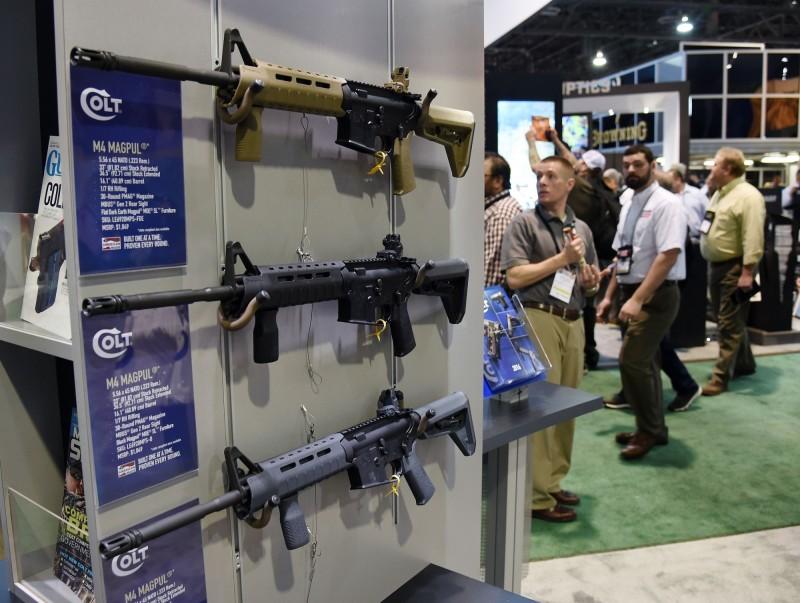 美國西點軍校一名學員隨身攜帶一把M4卡賓槍後失蹤,當局連忙展開大規模搜索。M4卡賓槍示意圖。(法新社)