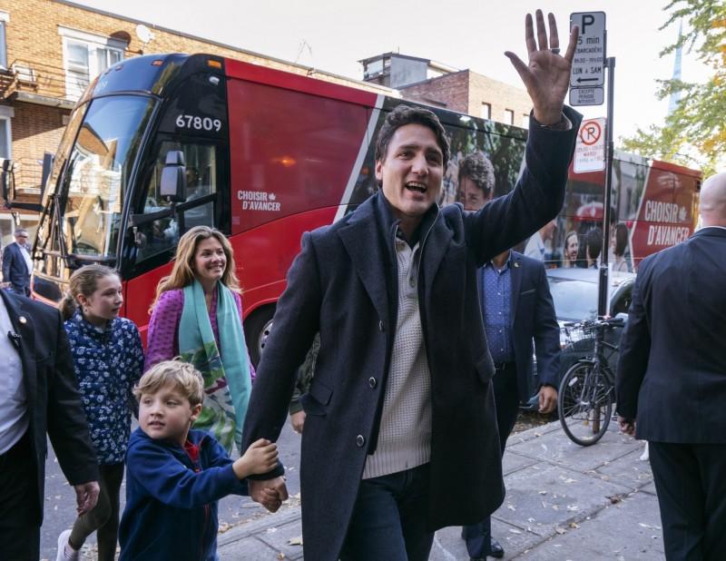 加拿大大選開票...自由黨小勝 總理杜魯道成功連任