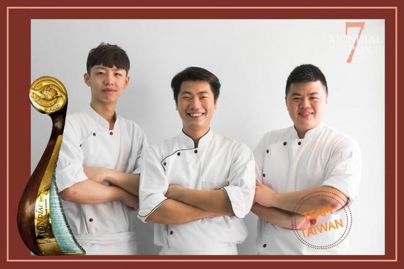 台灣隊教練王鵬傑(右),選手游東運(中)、助手許育晨(左)。(擷取自臉書Ambassadeurs Du Pain)