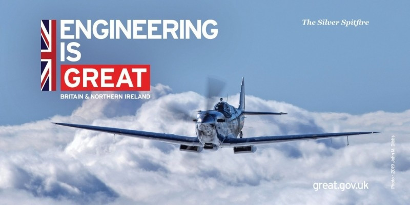 英國經典戰機「銀翼噴火式戰機」上午將飛抵台中機場。(取自英國在台辦事處臉書)
