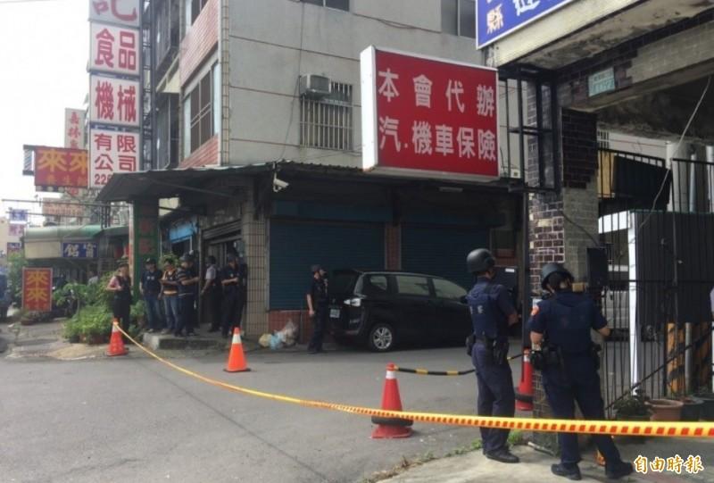 陳志明在租屋處開槍,警方圍捕。(資料照,記者蔡宗勳攝)